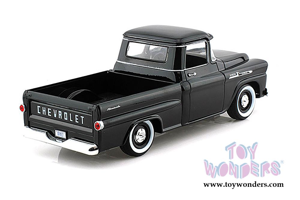1958 Chevy Apache Fleetside Pickup Truck 79311acbk 124 Scale