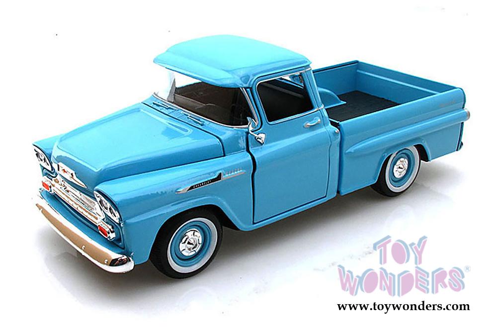 1958 Chevy Apache Fleetside Pickup Truck 79311acbu 124 Scale