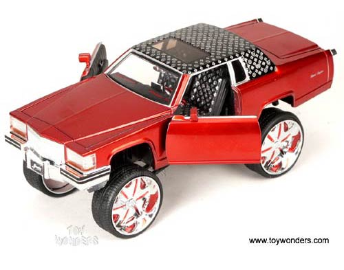 1985 Cadillac Brougham By Jada Toys Donk Box Bubble 1 24 Scale