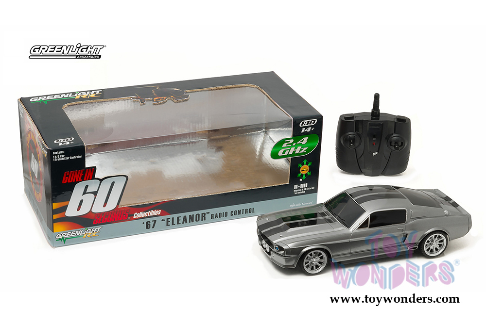 Greenlight - Eleanor from  Gone in 60 Seconds  - Ford Mustang Radio Control Car  sc 1 st  Toy Wonders & 1967 Ford Mustang Eleanor from