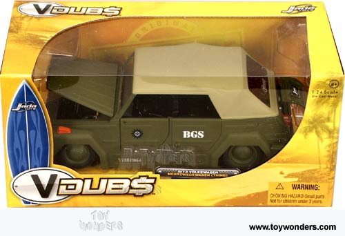 Jada Toys VDUBS - Volkswagen Mehrzwechwagen (Thing) Soft Top (1973, 1:24, Army) 91040