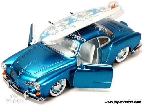 Jada Toys VDUBS - Volkswagen Karmann Ghia Hard Top w/ Surfboard (1959, 1:24, Asstd.) 91045MT