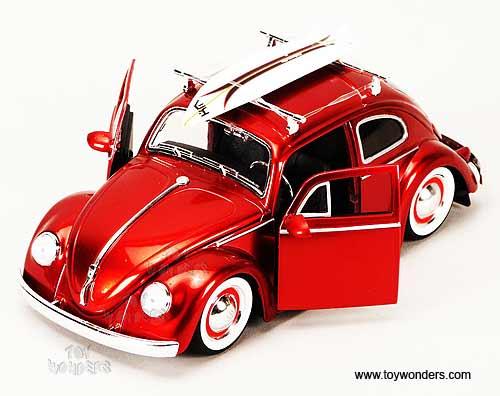 Jada Toys Dub City Volkswagen Beetle Hard Top W Surfboard 1959 1