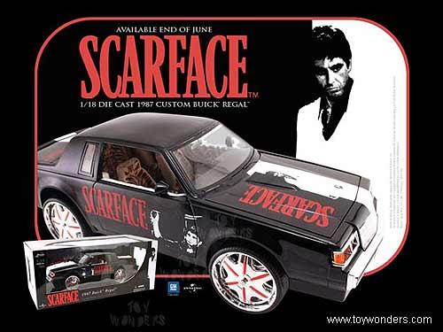 Jada Toys Scarface Buick Regal Hard Top 1987 1 18 Scale Cast