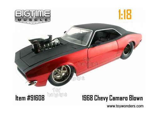 1968 Chevrolet Camaro Hard Top W Engine Blower By Jada Toys Bigtime