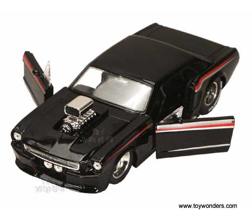 1965 Ford Mustang W Engine Blower By Jada Toys Bigtime Muscle 1 24