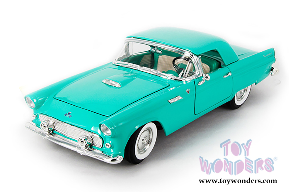 Lucky Road Signature - Ford Thunderbird Convertible w/ Removable Bonnet (1955 1/  sc 1 st  Toy Wonders Inc. & 1955 Ford Thunderbird Convertible w/ Removable Bonnet 92068GN 1/18 ... markmcfarlin.com