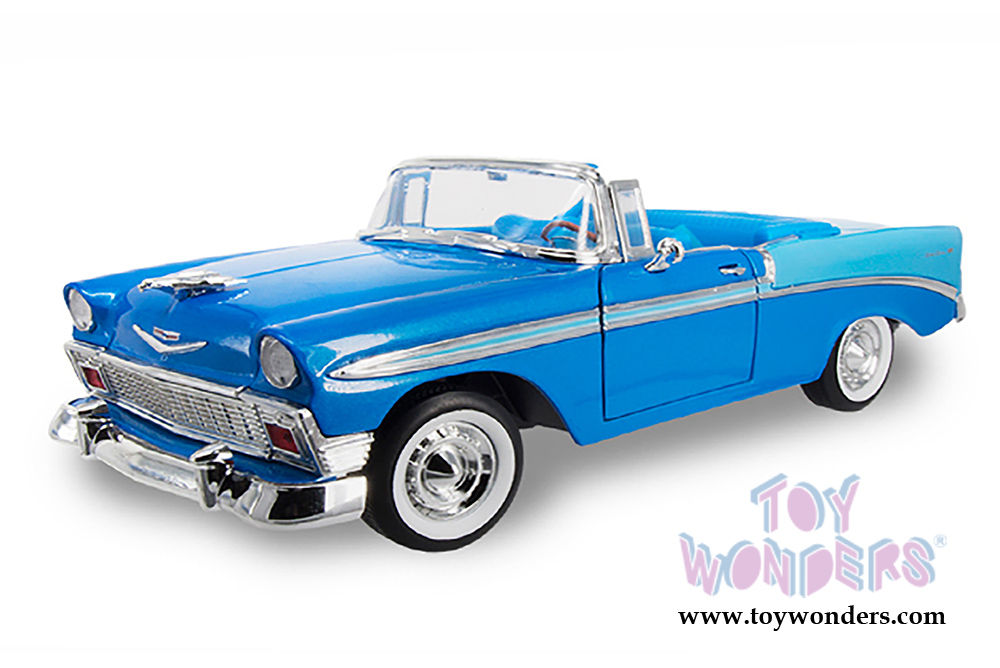 1956 chevy bel air convertible 92128bu 1 18 scale yatming. Black Bedroom Furniture Sets. Home Design Ideas