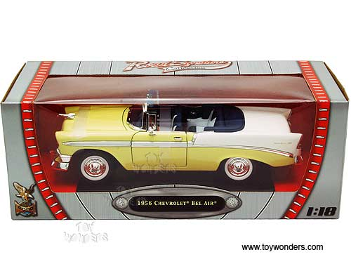 1956 chevy bel air convertible 92128yl 1 18 scale yatming. Black Bedroom Furniture Sets. Home Design Ideas