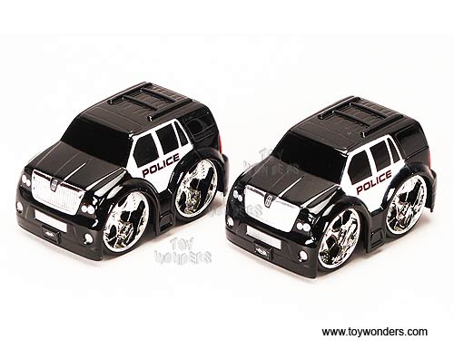 Jada Toys Toon Garage Lincoln Navigator Police Car 3 5 Black