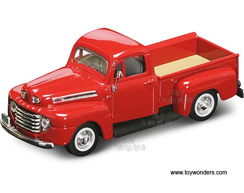 Ford F-100 Red Pickup Truck 1953 Year Yat Ming 1//43 Scale Diecast Model Toy Car