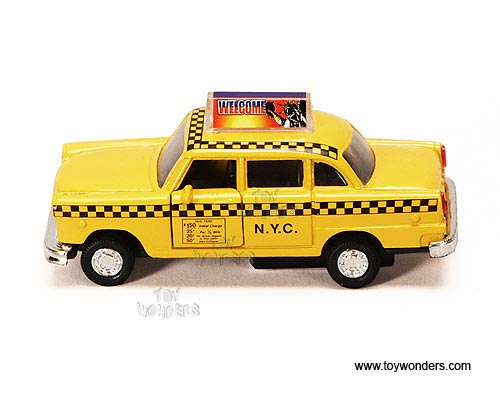 Toy Diecast Nyc Yellow Taxi Cab 9589ny Wholesale Diecast Model Car