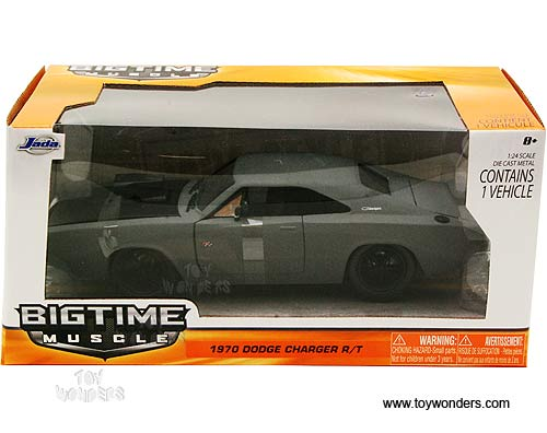 1970 dodge charger r t hard top w engine blower 96953a 1 24 scale jada toys bigtime muscle. Black Bedroom Furniture Sets. Home Design Ideas