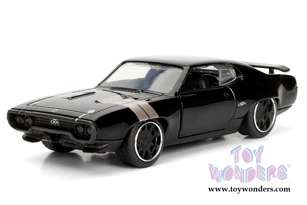 jada toys fast furious dom 39 s plymouth gtx f8 the fate of the furious movie 2017 hard top. Black Bedroom Furniture Sets. Home Design Ideas