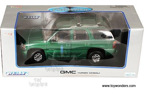 Welly GMC Yukon Denali SUV 118 Green 9863 Wholesale