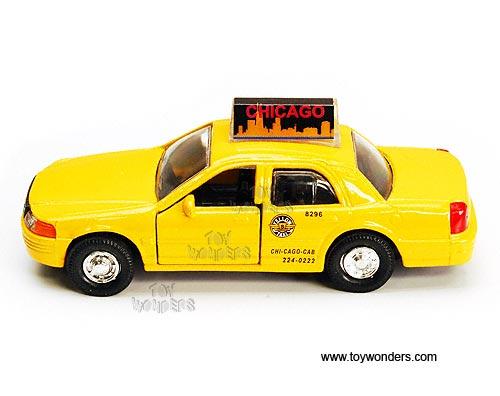 Modern Taxi Cab 5 Diecast Model Car Yellow 9989cg