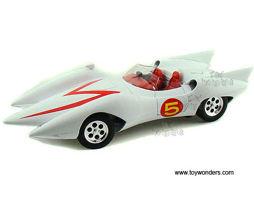 Auto world silver screen machines speed racer mach 5 w figure 1