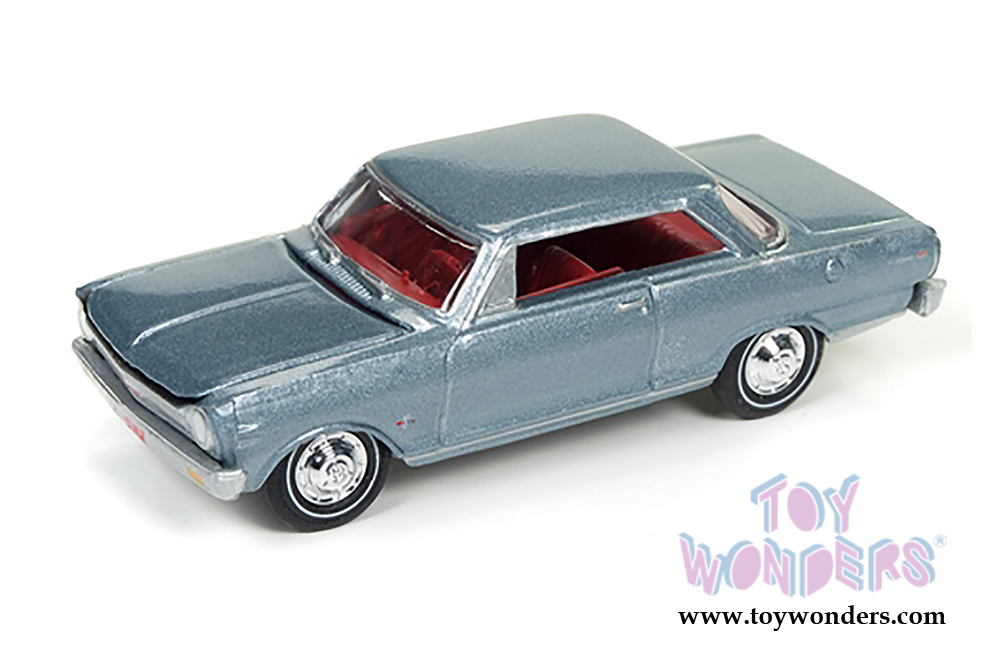 Round 2 Johnny Lightning Muscle Cars U S A 1965 Chevy Nova Ss Hard Top Jlmc010 24b 1 64 Scale Whole Cast Model Car