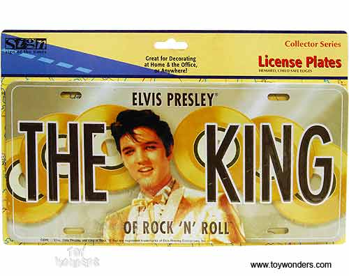 Elvis-The King of Rock /'N Roll Photo License Plate Frame