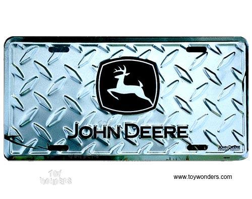 John Deere Tractor Plates : License plate john deere logo farm tractor silver diamond