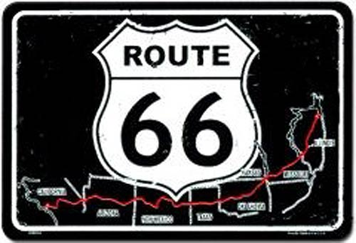 metal sign us route 66 map sign spsr6m