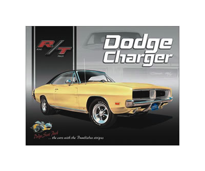 tin sign  dodge charger rt sign td