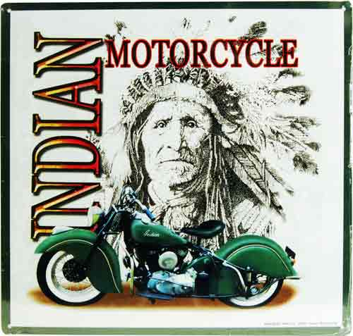 Sign Indian Motorcycle DO - Bmw motorcycle tin signs