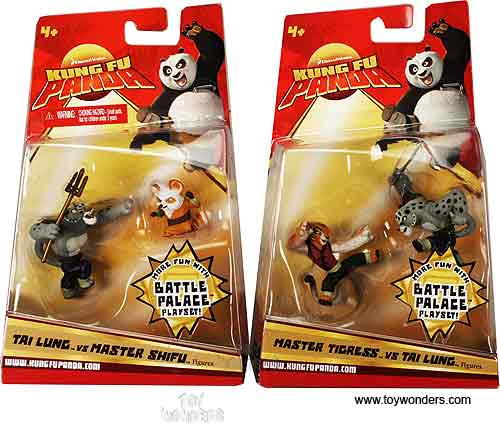 Mattel Dreamworks Kung Fu Panda Action Figures Play Set 2 5
