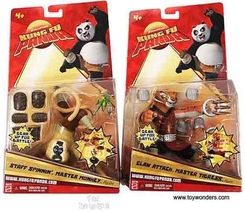 Mattel Dreamworks Kung Fu Panda Action Figures Play Set 5 Asstd