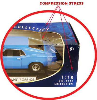 retail box showing compression damage