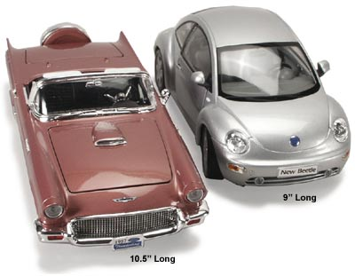 1/18 scale ford thunderbird compared to 1/18 VW Beetle