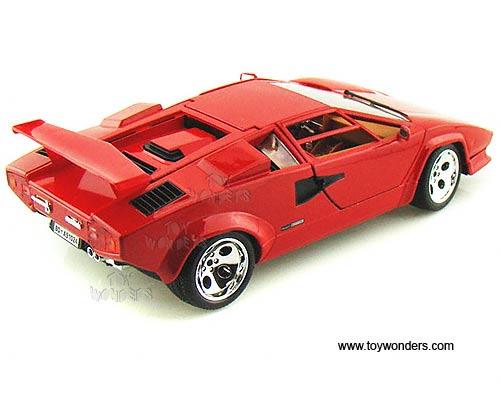 bburago lamborghini countach 5000 quattrovalvole hard top 1 18 scale diecast model car red. Black Bedroom Furniture Sets. Home Design Ideas