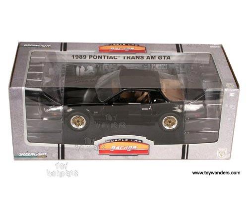 Greenlight Muscle Car Garage   Pontiac Trans Am GTA Hard Top (1989, 1/18  Scale Diecast Car Models, Black) 12804