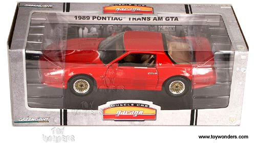 Greenlight Muscle Car Garage   Pontiac Trans Am GTA Hard Top (1989, 1/18  Scale Diecast Car Models, Red) 12804