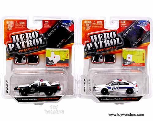 Jada Toys Hero Patrol - Diecast Police Cars Wave 6 (1/64 ...