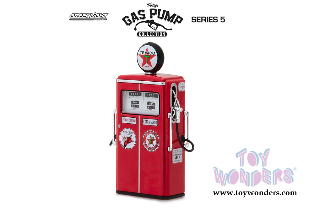 Greenlight - Vintage Gas Pumps Series 5 | 1954 Tokheim 350 Twin Texaco Gas  Pump (1/18 scale diecast model, Red) 14050C