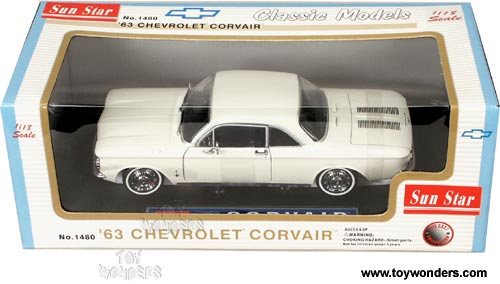 Sun Star - Chevy Corvair Hard Top (1963, 1:18, White) 1480