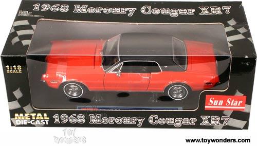 1968 Mercury Cougar Xr7 Hard Top By Sun Star 1  18 Scale