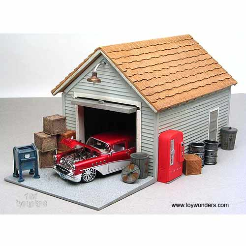 Toy Model Buildings : American diorama buildings garage building scale