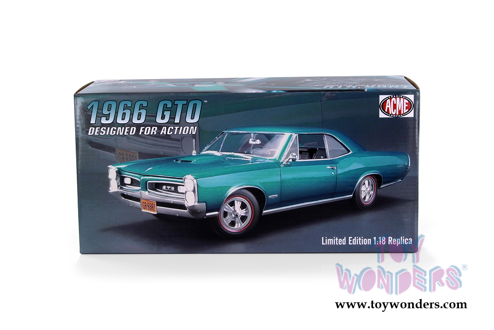 Acme - Pontiac® GTO™ Hard Top (1966, 1/18 scale diecast model car,  Turquoise) 1801212