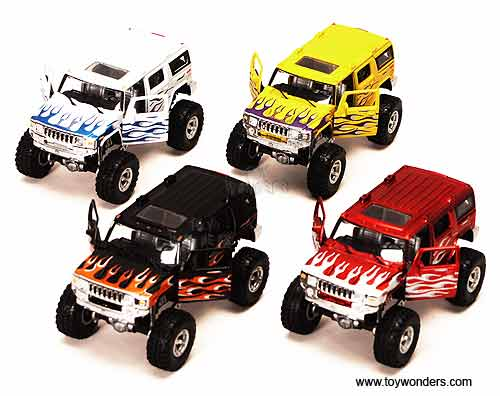 Hummer H2 Big Monster Wheel Suv By Tins Toys 1 35 Scale