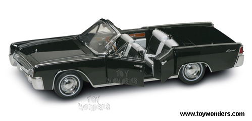 yatming lincoln continental limo 1961 1 18 scale diecast model car black 20088. Black Bedroom Furniture Sets. Home Design Ideas