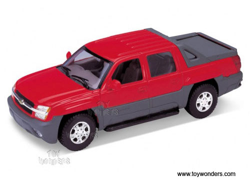 Welly Cast Cars Chevrolet Avalanche Pickup 2002 1 24 Scale Car Models Red 2094r