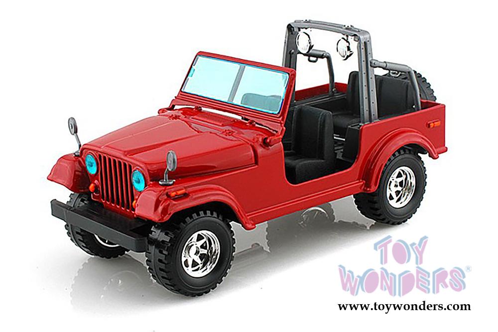 bburago - jeep wrangler (1/24 scale diecast model car, blue) 22033r