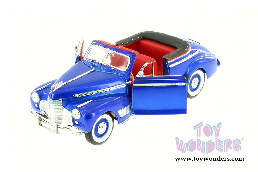 Welly - Chevrolet® Special Deluxe Convertible (1941, 1/24 scale diecast  model car, Blue) 22411WBU