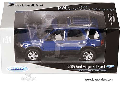 Welly diecast cars - Ford Escape Limited SUV (2005 1/24 scale diecast car models Blue) 2463  sc 1 st  Toy Wonders Inc. & Diecast Collector Model Cars Welly - Ford Escape Limited SUV (2005 ... markmcfarlin.com