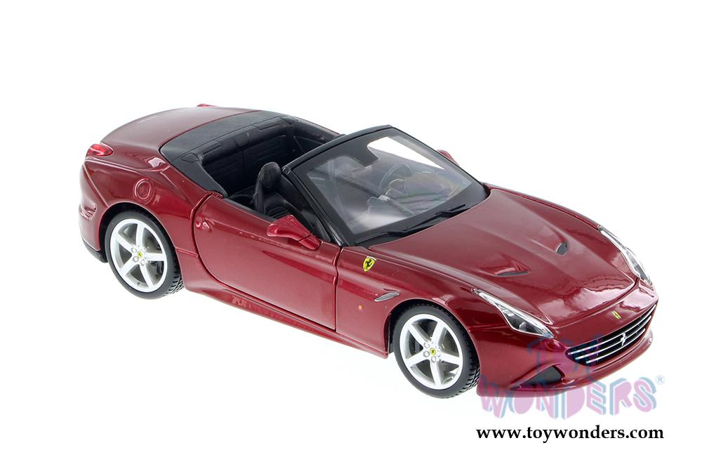 Ferrari California T Cabrio Rot Metallic 1//24 Bburago Modell Auto mit oder ohne