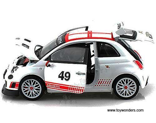 Fiat Abarth 500 Hard Top 49 28101w 1 24 Scale Bburago Wholesale Diecast Model Car