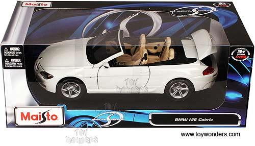 Maisto Bmw M6 Cabrio Convertible 1 18 Scale Cast Model Car White