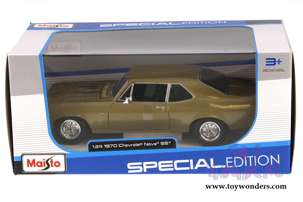 Maisto Chevy Nova Ss Hardtop 1970 1 24 Scale Cast Model Car